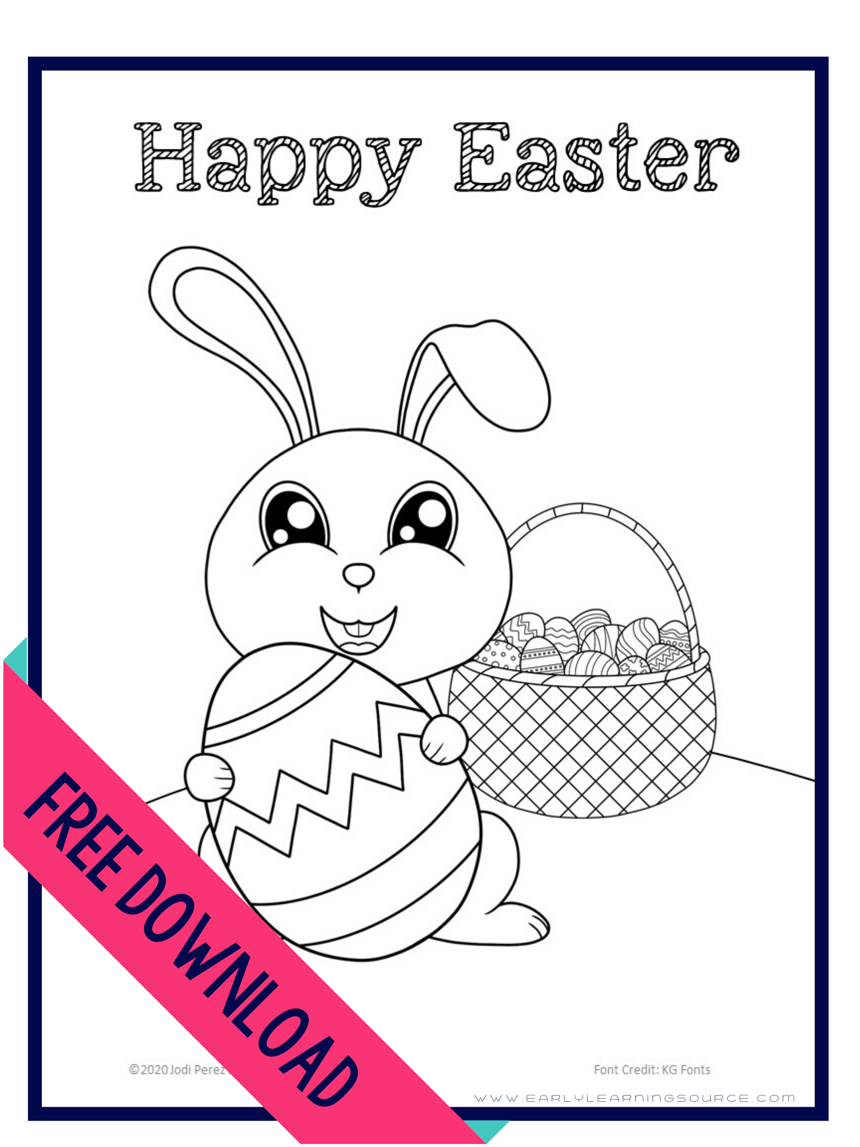 Free Cute Easter Coloring Sheet