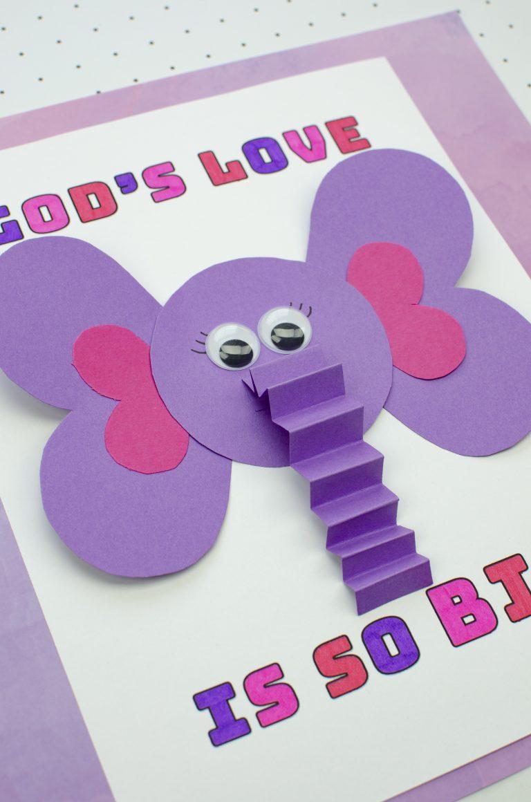 God's Love is So Big – Sunday School Valentine's Craft