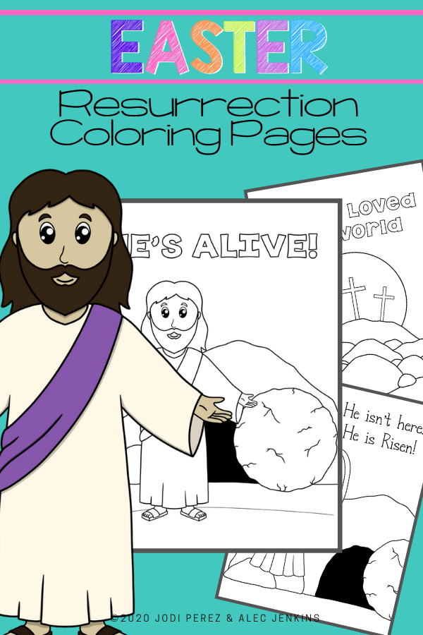 Easter Sunday Christian Preschool Coloring Pages.  Resurrection Coloring Pages.