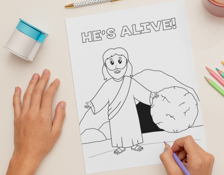 Resurrection Sunday Easter Coloring Pages
