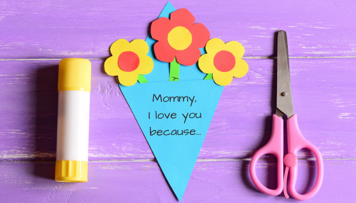 Mommy, I love you because craft