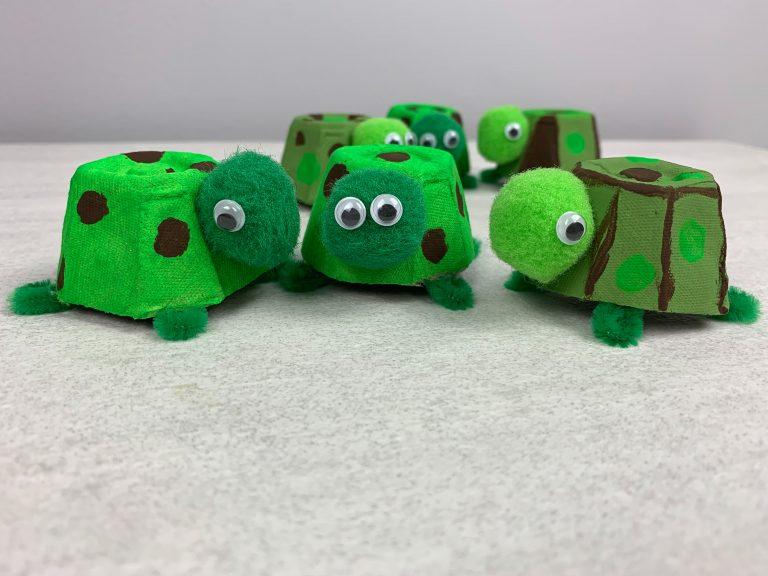 Turtle Egg Carton Preschool Craft