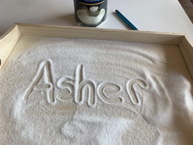 Salt Tray Name Practice